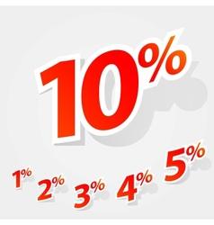 set of labels percent vector image