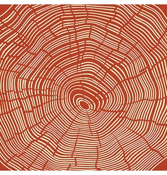 Tree Rings Red Textured Background vector image vector image