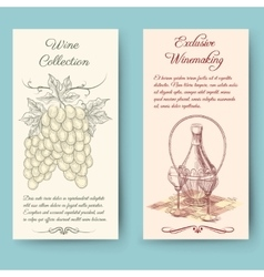 Wine and wine making vertical banners vector image vector image