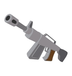 Automatic rifle cartoon icon vector image