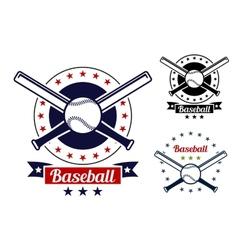 Baseball sport team badges vector image vector image