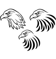 Eagle head tattoo vector image vector image