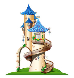 fabulous tower with balcony vector image vector image