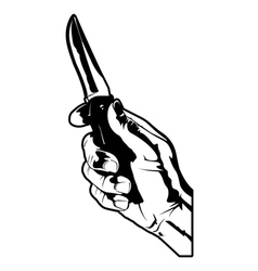 holding a knife vector image vector image