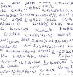 maths formulas vector image