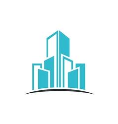 modern building cityscape abstract logo vector image vector image
