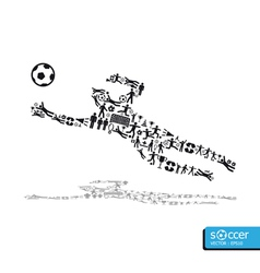 active soccer player shape concept vector image vector image