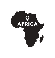 Flat icon in black and white Africa vector image vector image