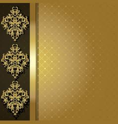 Gold backgroun vector image vector image
