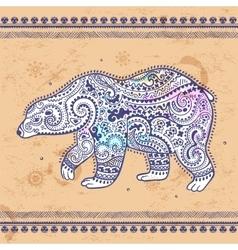 Tribal hand drawn totem bear vector image