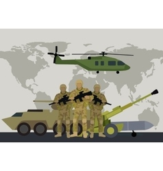 Armed forces concept in flat design vector