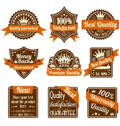 best quality labels vector image