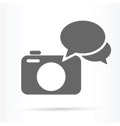 camera speech bubble icon vector image vector image