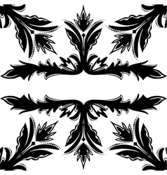 Decorative seamless black-and-white texture vector image