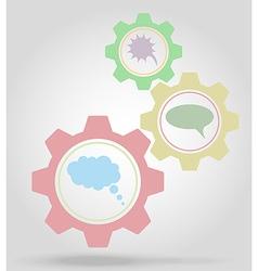 gear mechanism concept 17 vector image vector image