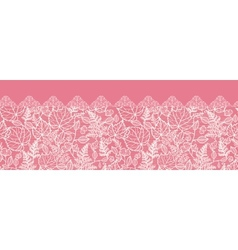 Lace leaves horizontal seamless pattern background vector image vector image