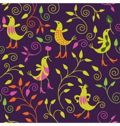 pattern with birds vector image vector image