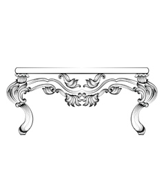 Rich Baroque Table French Luxury carved vector image vector image