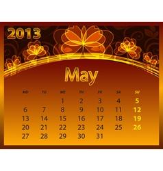 2013 calendar year vector image