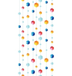 Abstract hanging jewels striped seamless pattern vector