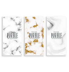 Abstract marble texture banners set vector