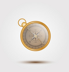 antique retro style metal compass isolated vector image