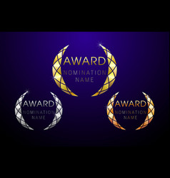 Award round 1 2 3 places vector
