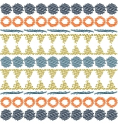 Aztec ethnic tribal seamless pattern vector