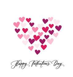 background with hearts and happy valentine s day vector image