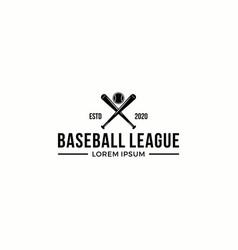 baseball league sport logo graphic element vector image