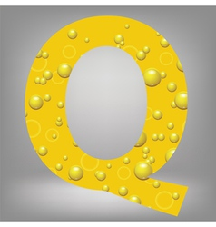 beer letter Q vector image
