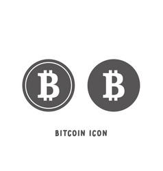 bitcoin cryptocurrency icon simple flat style vector image