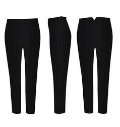 Black pants vector