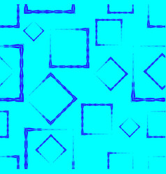 blue rhombuses and squares on a sky background vector image