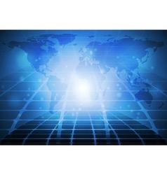 Blue tech design vector image