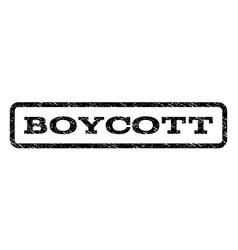 Boycott watermark stamp vector
