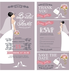 Bridal showerWedding cardsBridedecoration vector