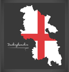 Buckinghamshire map england uk with english vector