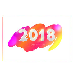 creative happy new year 2018 design card on vector image