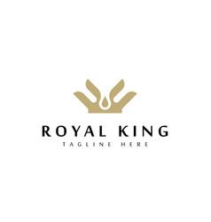 crown icon logo design template vector image