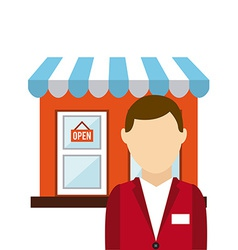 Customer man vector