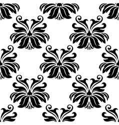 Damask seamless pattern with decorative flowers vector image
