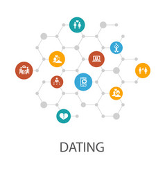 dating presentation template cover layout and vector image