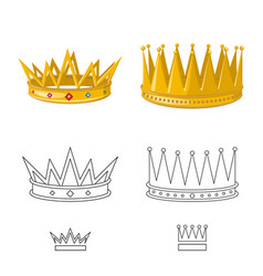 Design medieval and nobility icon set vector
