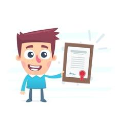 Diploma - way to success vector