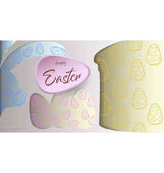 easter theme paper composition vector image