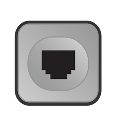 electrical outlet icon vector image