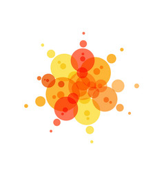 festive icon red yellow and orange circles vector image
