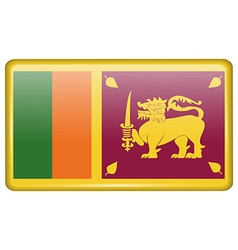 Flags Sri Lanka in the form of a magnet on vector