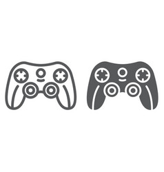 game controller line and glyph icon game and play vector image